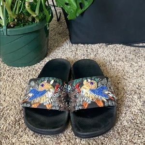 Steve Madden Funky Sequin Slides Sandals